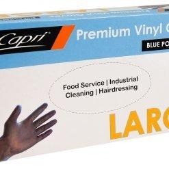 LRG PF Blue Vinyl Gloves